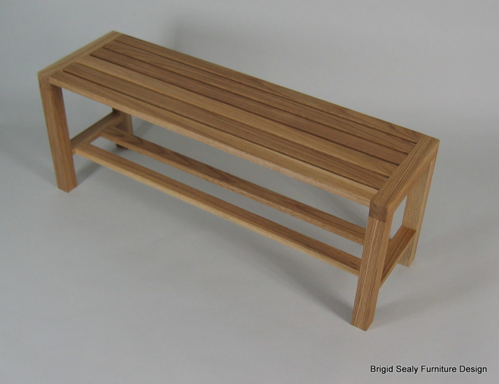 oiled oak bench