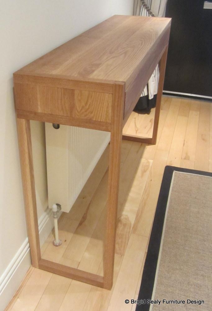 oak console table side